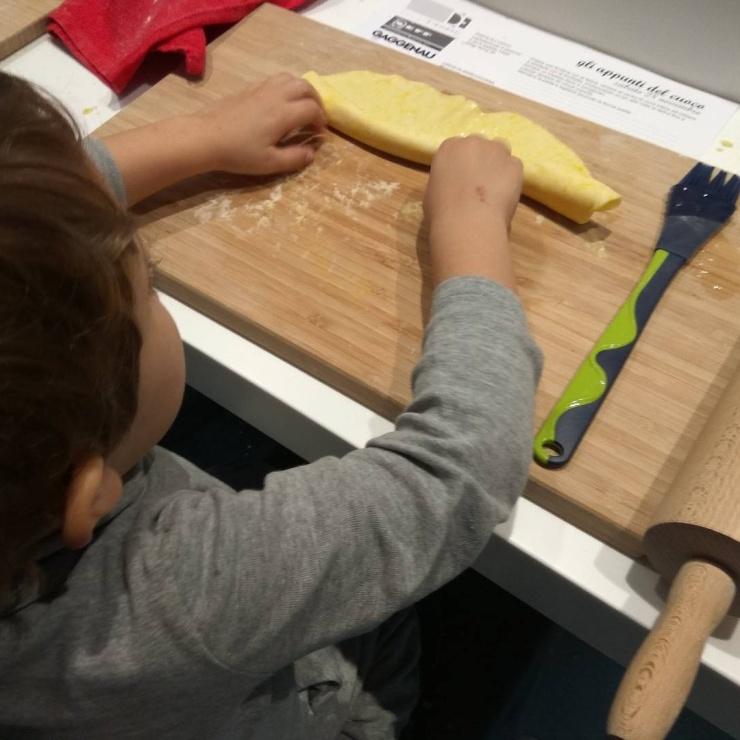 Crescia marchigiana - preparazione della sfoglia