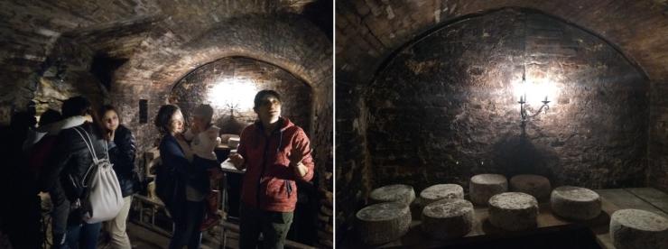 Fosse di stagionatura al Frantoio della Rocca