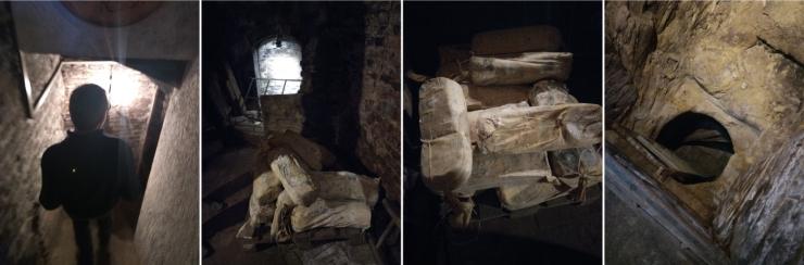 Fosse di stagionatura al Frantoio della Rocca: la discesa